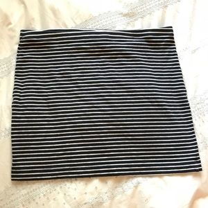 H&M Basic Striped Body-con Skirt